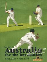 Ashes Cricket in Australia Metal Wall Sign (3 sizes)
